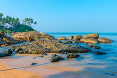 Huge beautiful beaches in the lagoon Royalty Free Stock Image