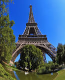 Huge and beautiful Eiffel Tower Royalty Free Stock Photography