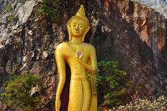 Huge Beautiful Golden Buddha Statue . Royalty Free Stock Images