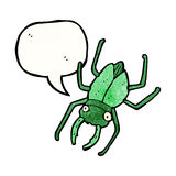 huge beetle with speech bubble Stock Image