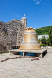 Huge bell by the Budva Old Town Stock Photos