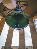Huge bell in Valletta stock images