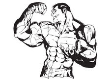 Huge biceps. Bodybuilder huge biceps Stock Image