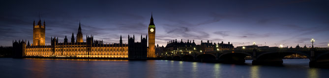 HUGE-Big Ben and Westminster Stock Photo