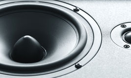 Huge black bass speaker with high quality membrane Royalty Free Stock Photography