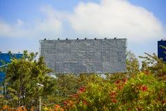 Huge blank billboard Stock Photo