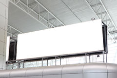 Huge Blank Billboard in airport Stock Photos