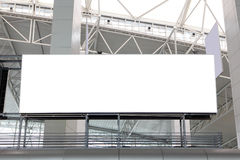 Huge Blank Billboard at airport Royalty Free Stock Images