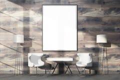 Huge blank frame on wood Stock Image