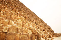 The huge blocks at the base of the Great Pyramid. Egypt Stock Images
