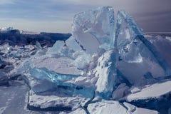 Huge blocks of ice. Stock Photos
