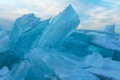 Huge blocks of ice. Royalty Free Stock Photo