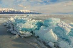 Huge blocks of ice. Royalty Free Stock Photography