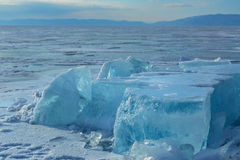 Huge blocks of ice. Royalty Free Stock Images