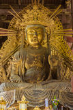 Huge Bodhisattva statue in Todai-ji temple Royalty Free Stock Photos
