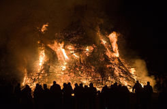 Huge bonfire with easter Royalty Free Stock Photography