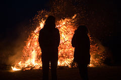 Free Huge Bonfire With Easter Stock Photo - 24336460
