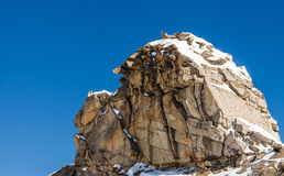 Huge boulder and blue sky. Photo of a huge boulder and blue sky Stock Photography