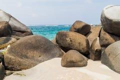 Beach in Tayrona National Park royalty free stock photos