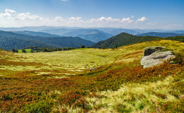 Huge boulders on the edge of hillside Royalty Free Stock Photography