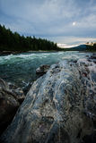 Huge boulders. In line with a mountain stream Royalty Free Stock Photography