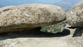 Huge boulders. In Meteora, Greece stock photography