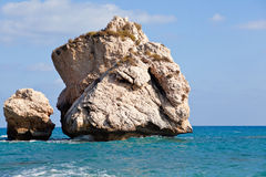 Huge boulders in a sea Royalty Free Stock Images