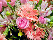 Huge bouquet of flowers. Huge bouquet of various pink flowers Royalty Free Stock Photos