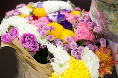 Huge bouquet of flowers Royalty Free Stock Photography