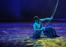 The huge bow and arrow-The dance drama The legend of the Condor Heroes Stock Image