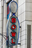 Huge Bowling sign Stock Photography