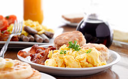 Huge breakfast Royalty Free Stock Photos