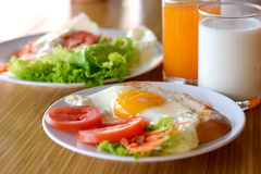 Huge breakfast Stock Images