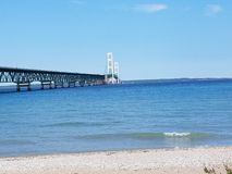 Mackinaw bridge stock photos