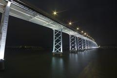Huge bridge in macau Stock Image
