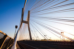 Huge bridge, saturated landmark view Royalty Free Stock Photo