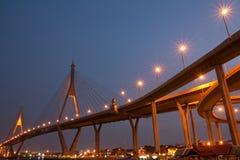 Huge bridge at twilight Royalty Free Stock Photos