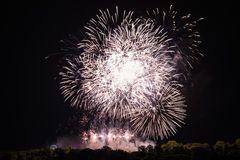 Huge bright fireworks Royalty Free Stock Image