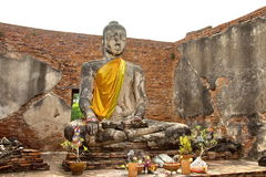 Huge Buddha Statue, Ayutthaya,  Thailand Royalty Free Stock Photos