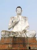 Huge buddha statue - hand in abhaya mudra Royalty Free Stock Photography
