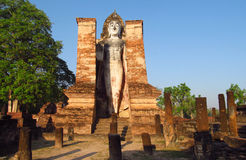 Huge Buddha statue Sukhothai Historical Park in Thailand Royalty Free Stock Photos