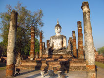 Huge Buddha statue Sukhothai Historical Park in Thailand Royalty Free Stock Images