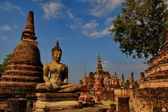 Huge buddha statue Sukhothai national park Stock Images