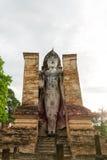 Huge Buddha in Sukhothai, Thailand, World Heritage. Royalty Free Stock Photo
