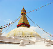 A huge buddhist stupa (Kathmandu, Nepal) Royalty Free Stock Photo