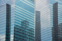 Huge buisness buildings made of steel & glass Stock Photo