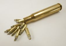 Huge bullet brass Royalty Free Stock Photos