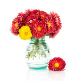 Huge bunch of yellow and red autumn flowers Royalty Free Stock Photography