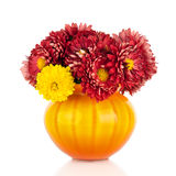 Huge bunch of yellow and red autumn flowers Royalty Free Stock Photos