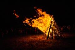 Huge campfire Stock Photo